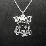 Dog Dad Fur Papa Pet Father Handmade 925 Sterling Silver Pendant Necklace