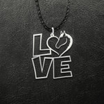 Love horse Handmade 925 Sterling Silver Pendant Necklace