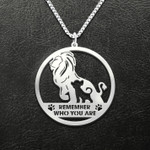 Lion remember who you are Handmade 925 Sterling Silver Pendant Necklace