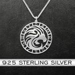 Zodiac Leo Handmade 925 Sterling Silver Pendant Necklace