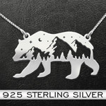 Bear Mountain Handmade 925 Sterling Silver Pendant Necklace