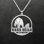 Bear Nana And Grandchild Nana Bear Handmade 925 Sterling Silver Pendant Necklace