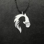 Horse Girl Handmade 925 Sterling Silver Pendant Necklace