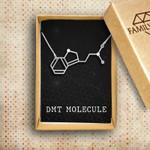 DMT molecule Handmade 925 Sterling Silver Pendant Necklace