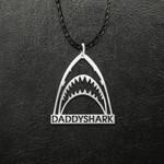 Daddyshark Handmade 925 Sterling Silver Pendant Necklace