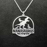 Dinosaur Nanasaurus Handmade 925 Sterling Silver Pendant Necklace