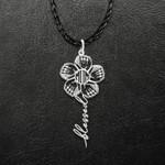 Baseball Mom Baseball Gloves Flower Handmade 925 Sterling Silver Pendant Necklace