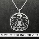 Hippie Peace Love Handmade 925 Sterling Silver Pendant Necklace