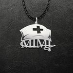 Nurse Mimi Nurse Hat Handmade 925 Sterling Silver Pendant Necklace