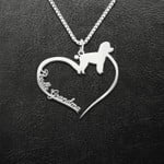 Poodle Grandma Handmade 925 Sterling Silver Pendant Necklace
