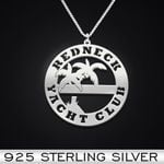 Redneck Yacht Club Handmade 925 Sterling Silver Pendant Necklace