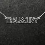 Equality Hurts No One Handmade 925 Sterling Silver Pendant Necklace