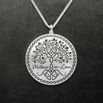 Mother's Day Gift Mom In Law Family Tree Handmade 925 Sterling Silver Pendant Necklace