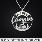 Happy Camper Handmade 925 Sterling Silver Pendant Necklace