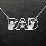 Hunting Hunting Dad Handmade 925 Sterling Silver Pendant Necklace