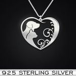 Dog Cat Handmade 925 Sterling Silver Pendant Necklace