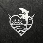 Valentine Dolphin Beach Heart