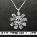 Let It Hippie Handmade 925 Sterling Silver Pendant Necklace