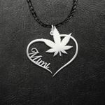 Weed Mimi Handmade 925 Sterling Silver Pendant Necklace