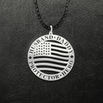 Husband Daddy Protector Hero Handmade 925 Sterling Silver Pendant Necklace