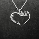 Camping Godmother Nina Mother's Day Gift Handmade 925 Sterling Silver Pendant Necklace