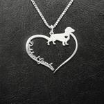 Dachshund Grandma Handmade 925 Sterling Silver Pendant Necklace