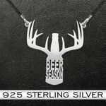 Hunting | Beer Season | Beer Bottle | 925 Necklace Handmade 925 Sterling Silver Pendant Necklace