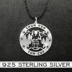 Bear shuh duh fuh cup Handmade 925 Sterling Silver Pendant Necklace
