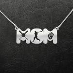 Baseball Mom Baseball Bat Ball And Glove Handmade 925 Sterling Silver Pendant Necklace