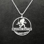 Bigfoot Master Baiter Handmade 925 Sterling Silver Pendant Necklace