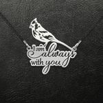 Cardinal i am always with you Handmade 925 Sterling Silver Pendant Necklace