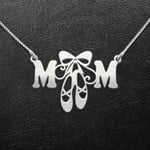 Ballet Mom Ballet Shoes Handmade 925 Sterling Silver Pendant Necklace