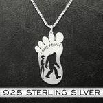 Bigfoot Alien I Hate People Handmade 925 Sterling Silver Pendant Necklace