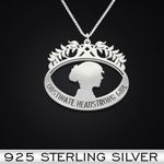 Obstinate Headstrong Girl Handmade 925 Sterling Silver Pendant Necklace