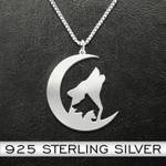 Wolf Family Handmade 925 Sterling Silver Pendant Necklace