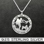 Hiking and she lived happily ever after Handmade 925 Sterling Silver Pendant Necklace