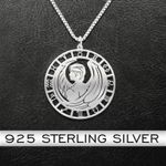 Zodiac Virgo Handmade 925 Sterling Silver Pendant Necklace
