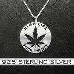 Hight Light Four Twenty Handmade 925 Sterling Silver Pendant Necklace