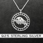 Zodiac Taurus Handmade 925 Sterling Silver Pendant Necklace