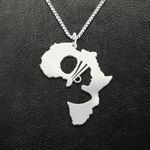Africa Black Girl Handmade 925 Sterling Silver Pendant Necklace