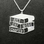 Reading Just One More Chapter Handmade 925 Sterling Silver Pendant Necklace