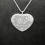Skull couple kissing Handmade 925 Sterling Silver Pendant Necklace