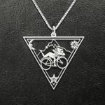 Psychedelic LSD Bicycle Day Dr Albert Hofmann 1943 Handmade 925 Sterling Silver Pendant Necklace