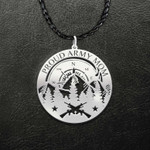 Military Proud Army Mom Soldier And Jeep In Forest Handmade 925 Sterling Silver Pendant Necklace