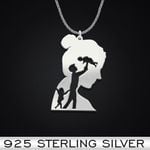 Family Wife Husband Baby Handmade 925 Sterling Silver Pendant Necklace