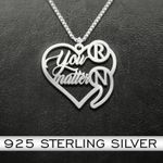 Suicide Prevention Awareness Semicolon You Matter Personalized Initials Handmade 925 Sterling Silver Pendant Necklace