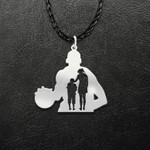 Basketball Mom And Son Handmade 925 Sterling Silver Pendant Necklace