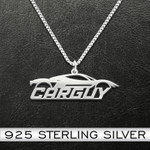 Car Carguy Handmade 925 Sterling Silver Pendant Necklace