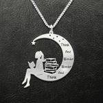 Reading Think And Wonder Wonder And Think Handmade 925 Sterling Silver Pendant Necklace