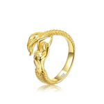 Mermaid Handmade 925 Sterling Silver Gold Plating Ring